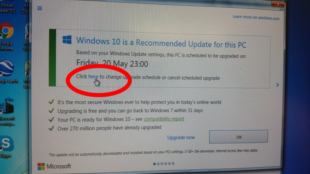 how to stop a scheduled windows 10 update